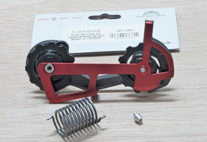 Select X0 Rear Derailleur Cage Kit Carbon Medium Red 1