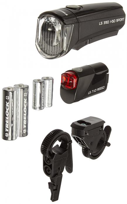 Set far-stop Trelock LS350 / LS710, negre 0