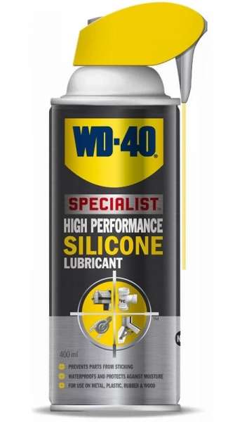 Spray Lubrifiant Wd40, Antiintepenire, Specialist Silicone, Capac Smart-Straw, 400Ml 1