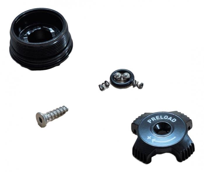 Top Cap/Preload Adjuster Knob, Aluminum - 2010 Recon Xc/Sl/Race, 2011 Recon Gold 0