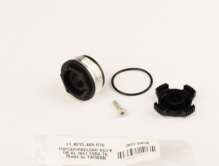 Top Cap/Preload Adjuster Knob, Aluminum 2011 Tora Tk 1