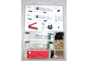 Trusa Scule Tektro Tackle Box Bleeding Kit, Seringi, Placute, Fitinguri, Cutter 0
