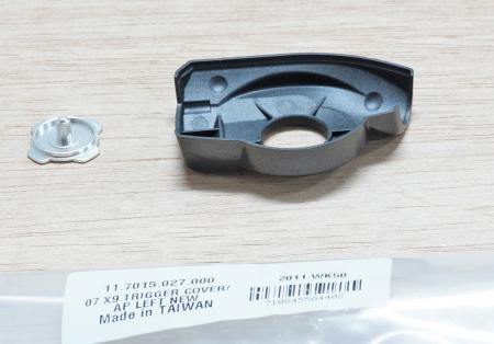 07-09 X9 Trigger Cover/Cap, Left New (< Nov 06)1
