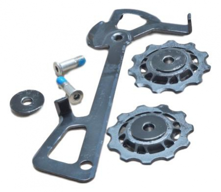 2010 X7 Rear Derailleur Cage Kit Long (Inner Cage & Pulleys, Outer Cage Not Replaceable)0