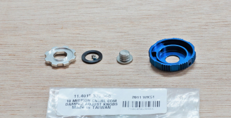 Adjuster Knob Kit, Compression Damper, Mission Control Dh - 2010 Boxxer Team/Wc (Low Speed, High Speed, Retaining Screw) Cannot Be Used With 2011 Compression Damper. [1]