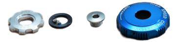 Adjuster Knob Kit, Compression Damper, Mission Control Dh - 2010 Boxxer Team/Wc (Low Speed, High Speed, Retaining Screw) Cannot Be Used With 2011 Compression Damper. [0]