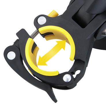 Aparatoare Noroi Spate Topeak Defender Xc11, Tc9640, pivot reglabil cu atasare tija-sa QR, neagra-gri2