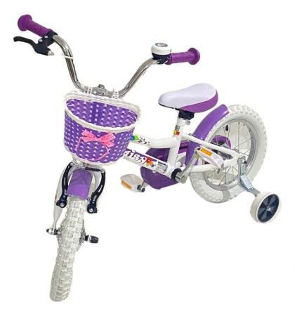 Bicicleta copii Dhs 1402 - 14 Inch  Alb [2]