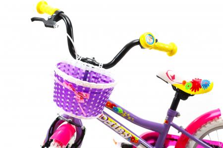 Bicicleta Copii Dhs 1402 Violet 14 Inch [4]