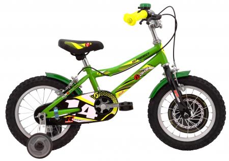 Bicicleta Copii Dhs 1403 Alb/Aprins 14 Inch2