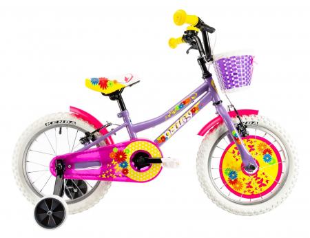 Bicicleta Copii Dhs 1604 Violet 16 Inch0