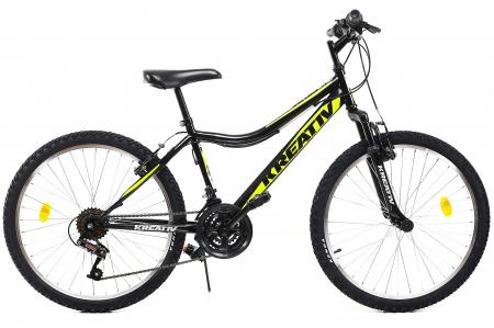 Bicicleta Copii Dhs 2404 Negru/Galben 24 Inch0