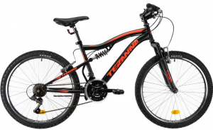 Bicicleta Copii Dhs Terrana 2445 Negru 24 Inch1