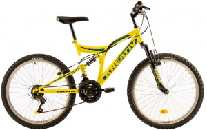 Bicicleta Copii Kreativ 2441 420Mm Galben/Aprins 24 Inch1