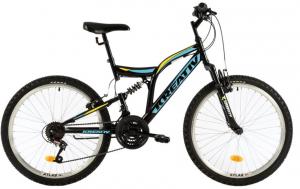 Bicicleta Copii Kreativ 2441 420Mm Galben/Aprins 24 Inch0