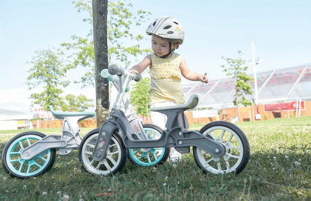 Bicicleta Copii Polisport Bb Gri/Crem 12 Inch, fara pedale, ergonomica, abtibilde2