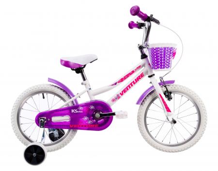 Bicicleta Copii Venture 1618 Alb 16 Inch0