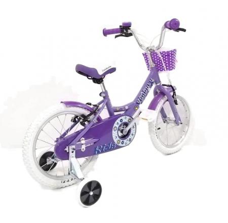 Bicicleta Copii Venture 1618 Alb/Mov 16 Inch [5]