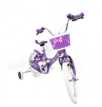 Bicicleta Copii Venture 1618 Alb/Mov 16 Inch [6]