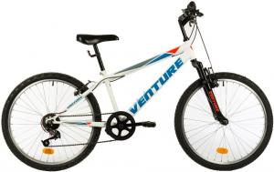 Bicicleta Copii Venture 2419 Alb 24 Inch0