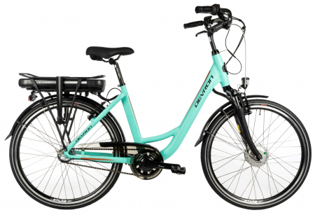 Bicicleta Electrica Devron City E-Bike Devron 26120 M 460Mm Albastru Deschis 26 Inch0