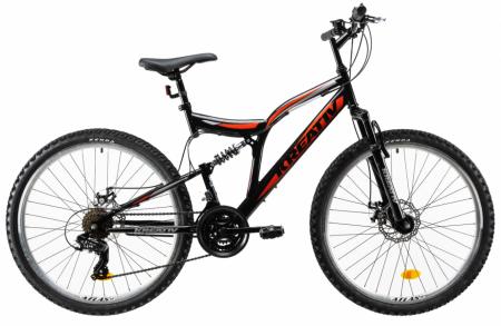 Bicicleta Mtb Kreativ 2643 M Negru/Rosu 26 Inch0