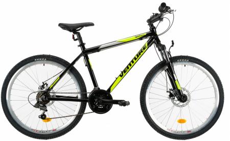 Bicicleta Mtb Venture 2621 495Mm Negru/Galben 26 Inch0