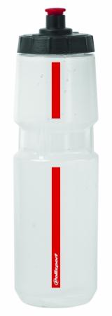 Bidonas Polisport Scale, transparent cu rosu [0]