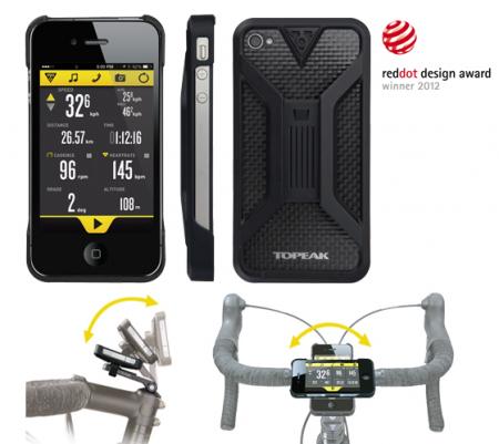 Carcasa Husa Topeak Ridecase Iphone 4, Carbon-Nylon, reglabila, neagra7