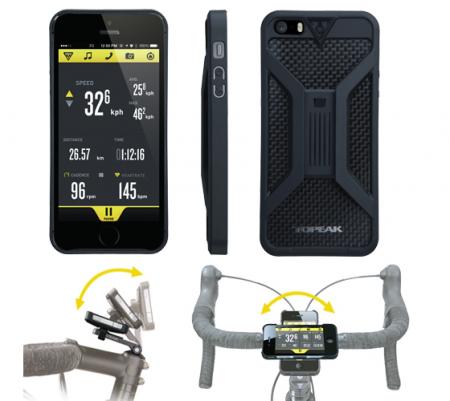 Carcasa Husa Topeak Ridecase Iphone 5, Carbon-Nylon, anti-shock, neagra0