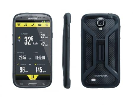 Carcasa Husa Topeak Ridecase Samsung Galaxy S4, Carbon-Nylon, reglabila, neagra2