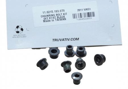 Chainring Bolt Kit 4X2 Steel/Steel Black0