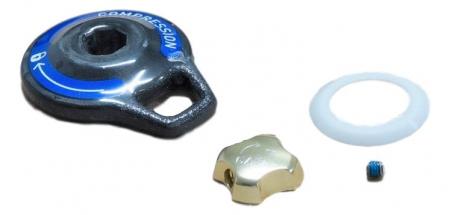 Compression Knob (Set Screw)/Floodgate Adjuster Knob Carbon, Black Box Motion Control - Sid Reba (2009-2011)0