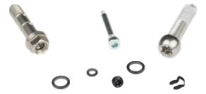 Elixir Cr Caliper Hardware Kit, Stainless Steel, Qty 1 (Banjo Bolt, Caliper Bolt, Pad Pin)0