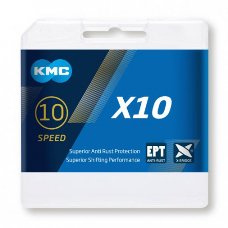 Lant KMC X10 EPT, 116 zale, Argintiu mat [2]