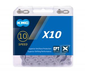 Lant KMC X10 EPT, 116 zale, Argintiu mat [0]