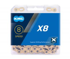 Lant KMC X8, 116zale, argintiu-gri0