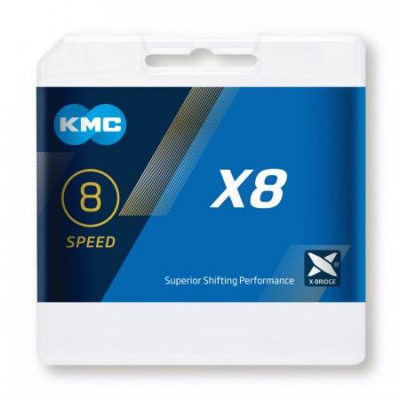 Lant KMC X8, 116zale, argintiu-gri2