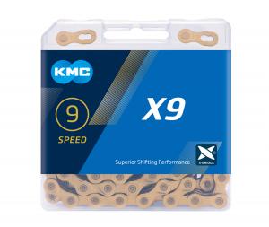 Lant KMC X9, 114zale, argintiu-gri [2]