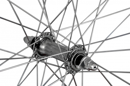 """Roata Bicicleta Fata Atlas 26"""", 559X18, Alu Profil Dublu Culoare Negru, Cnc, Spite Otel Nichelate, Butuc Simplu Argintiu, 3/8, 36H2"""