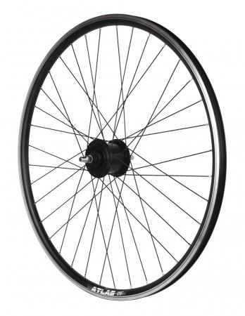 "Roata Bicicleta Fata Atlas 28"",622X18,Alu Dubla,Cnc, Spite Otel,Butuc Dh-3N31-Nt 36H,Neagra [1]"