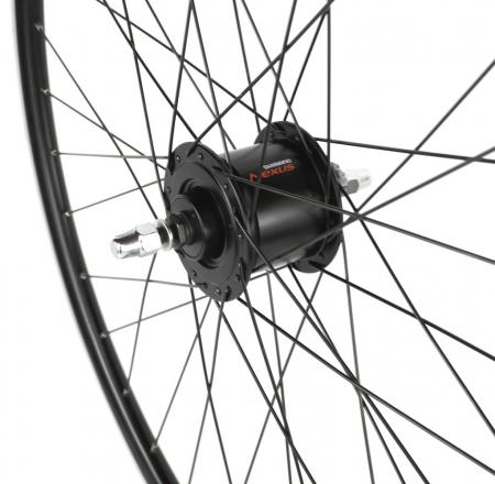 "Roata Bicicleta Fata Atlas 28"",622X18,Alu Dubla,Cnc, Spite Otel,Butuc Dh-3N31-Nt 36H,Neagra [2]"