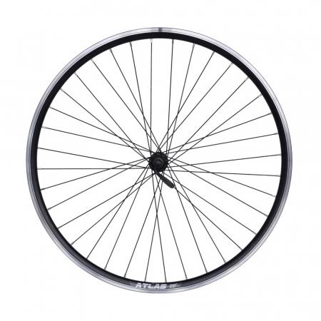 "Roata Bicicleta Fata Atlas 28"", 622X18, V-Brk, Spite Ngr, Butuc Shimano Hb-Tx500,Ax Qr9,36H,1040G,Neagra0"