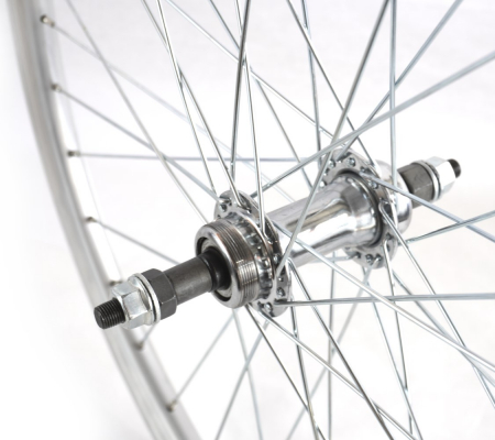 "Roata Bicicleta Spate Atlas 24"", 507X18, Alu Dubla, Argintie Natur, V-Brake Cnc, Butuc Viteza Otel Nichelat, 36H, 3/8 Old13249 [2]"