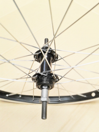 """Roata Bicicleta Spate Luna 20"""", 406X21, Alu Simpla, Neagra, Butuc Viteza Otel Negru 28H1"""