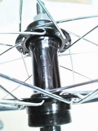 """Roata Bicicleta Spate Luna 20"""", 406X21, Alu Simpla, Neagra, Butuc Viteza Otel Negru 28H2"""