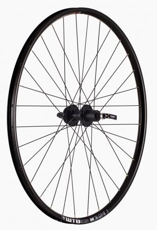 "Roata Bicicleta Spate Wtb Sx21 27,5"", 584X21, Alu Dubla, Neagra, Disk Brake, Sticker Lime, Spite Negre, Butuc Quando Kt-K68R, Caseta 8, Qr, 32H0"