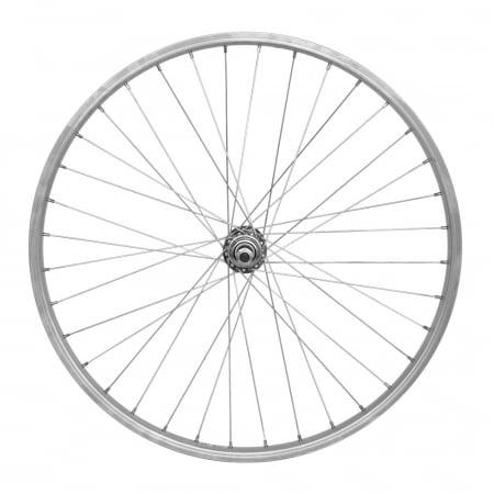 "Roata Spate 24"" Cerurirm, Janta Simpla Lyra, 507X21, V-Brake, 36H, Argintie [0]"