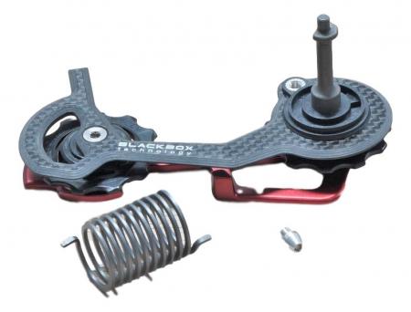 Select X0 Rear Derailleur Cage Kit Carbon Medium Red0