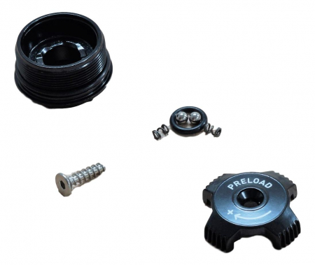 Top Cap/Preload Adjuster Knob, Aluminum - 2010 Recon Xc/Sl/Race, 2011 Recon Gold0